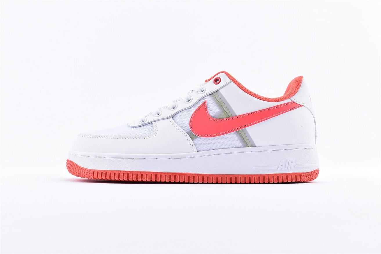 2nike air force 1 bianche e rosse