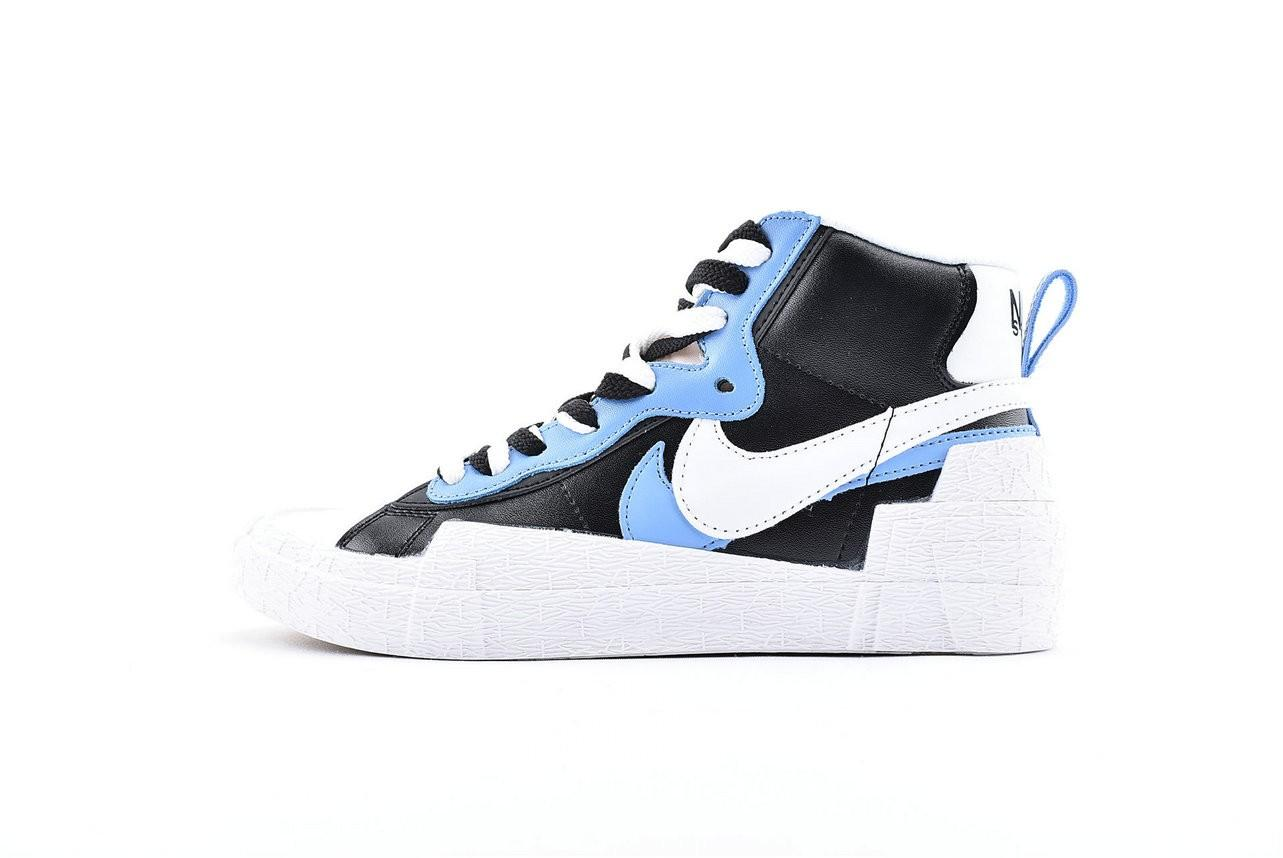 where can i buy good service lowest discount Sacai x Nike Blazer Mid White Black-Legend Blue Limited edition