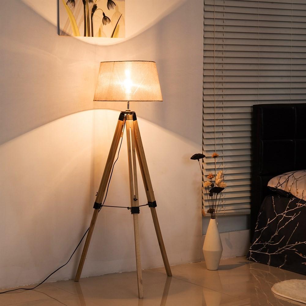 Lampada da Terra Design Moderno Vintage con Treppiede ...