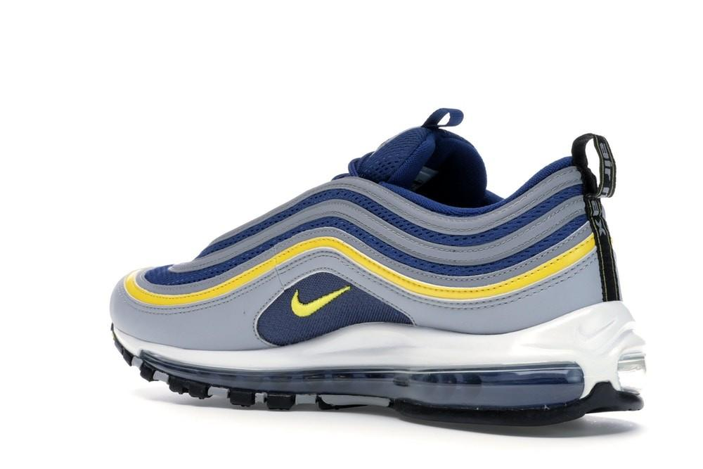 Scarpe Sneakers Nike Air Max 97 Michigan blu con baffo giallo