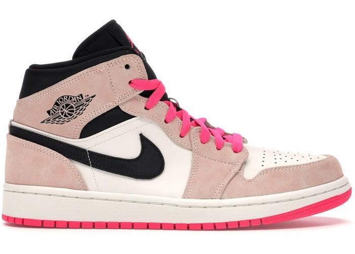 nike air jordan 1 mid donna rosa e nere