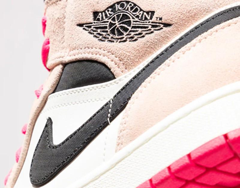 nike air jordan 1 rosa e bianche