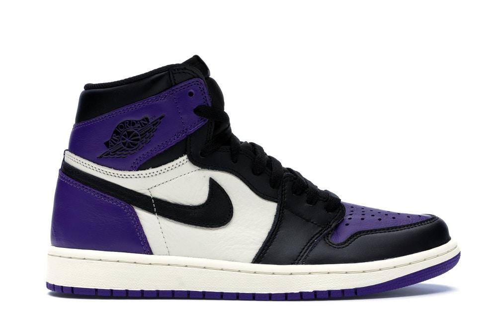 Scarpe nike air Jordan 1 colore nero e viola court purple