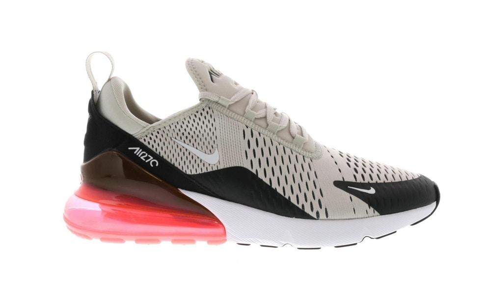 Scarpe Nike Air Max 270 colore beige nero e rosa light bone hot