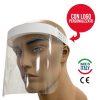 Dispositivo visiera paraschizzi per protezione viso certificata marchio CE categoria 1