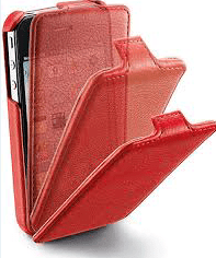 CUSTODIA PER APPLE IPHONE 4S FLAP CELLULAR LINE FLAPIPHONE4SR RED