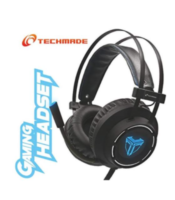 CUFFIE + MICROFONO 3.5MM GAMING MULTIMEDIALI TECHMADE TM-M06L BLACK