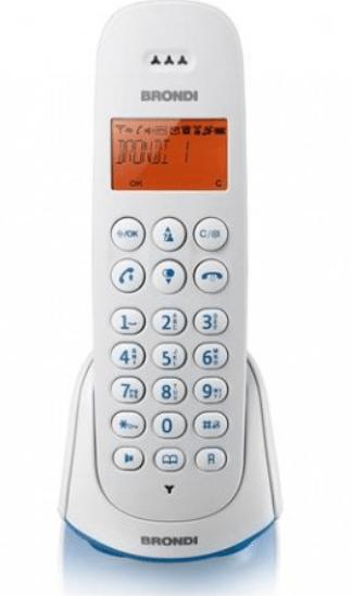 BRONDI ADARA TELEFONO CORDLESS SB ECO DECT CON SEGRETERIA TELEFONICA