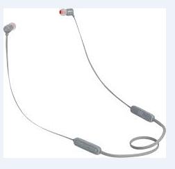 AURICOLARE BLUETOOTH IN-EAR JBL JBLT110BTGRY GREY.