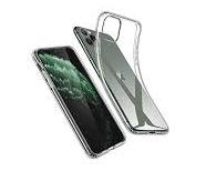 COVER PLUS PER IPHONE 11 PRO MAX 5PZ  OEM CPAIP11PMT TRASPARENTE BULK.