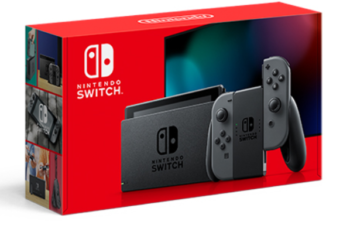 NINTENDO SWITCH (NEW REVISED MODEL) CONSOLE JOY-CON GREY IT.