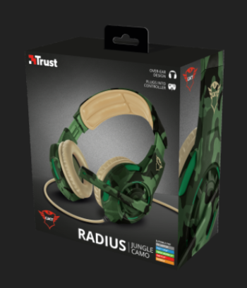 CUFFIE + MICROFONO 3.5MM GAMING TRUST GXT310C RADIUS 22207 JUNGLE CAMO.