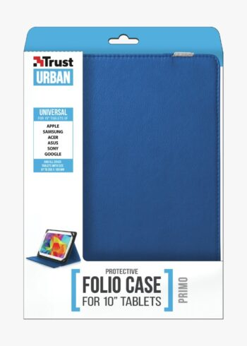 "CUSTODIA PER TABLET 10"" TRUST PRIMO FOLIO 20315 BLUE"