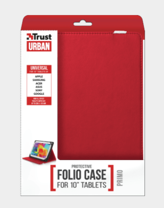 "CUSTODIA PER TABLET 10"" TRUST PRIMO FOLIO 20316 RED"