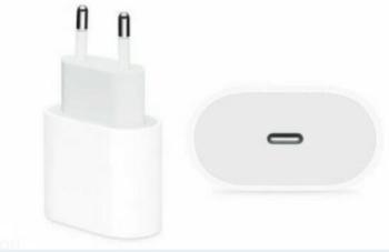CARICABATTERIA DA RETE FAST CHARGE USB-C 20W A2347 APPLE MHJE3ZM/A BULK.