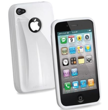 CUSTODIA PER APPLE IPHONE 4 SHOCKING CELLULAR LINE SHCKIPHONE4W WHITE.