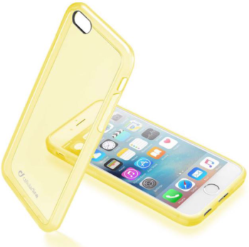 CUSTODIA PER APPLE IPHONE 6/6S CELLULAR LINE CLEARCOLIPH647Y YELLOW.