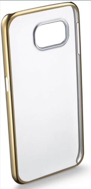 CUSTODIA PER SAMSUNG GALAXY S6 G920 CELLULAR LINE CLEARCRYGALS6H GOLD.