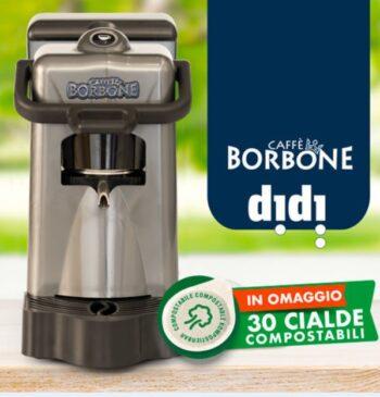 MACCHINA DA CAFFE' DIDIESSE DIDI' BORBONE PACK CON 30 CIALDE GRIGIO.
