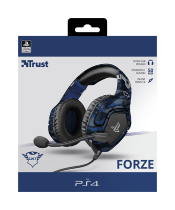 CUFFIE + MICROFONO 3.5MM GAMING TRUST GXT488 FORZA-B PS4 BLUE 23532