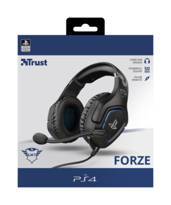 CUFFIE + MICROFONO 3.5MM GAMING TRUST GXT488 FORZE PS4 BLACK 23530