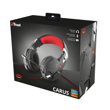 CUFFIE + MICROFONO 3.5MM GAMING TRUST GXT322 CARUS BLACK 20408