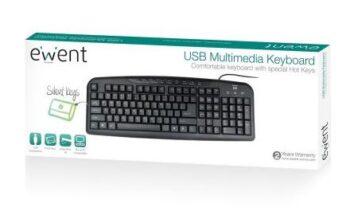TASTIERA MULTIMEDIALE USB EWENT EW3126