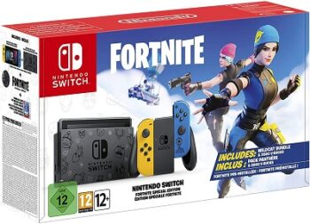 NINTENDO SWITCH CONSOLE FORTNITE EDITION JOY-CON GIALLO/BLU NEON
