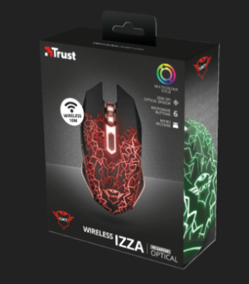 MOUSE OTTICO WIRELESS GAMING TRUST GXT107 IZZA 23214