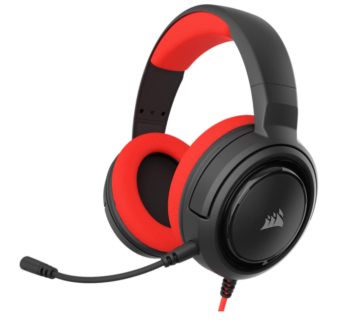 CUFFIE + MICROFONO 3.5MM GAMING CORSAIR HS35 CA-9011198-EU RED