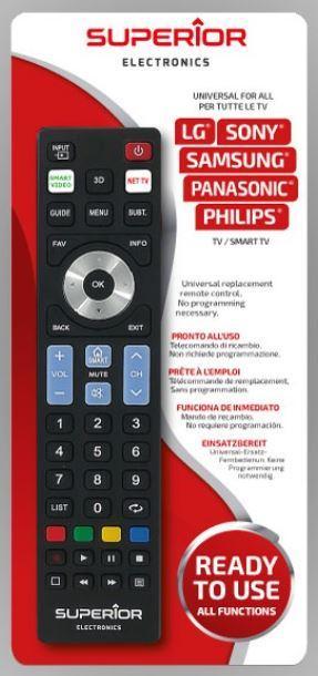 TELECOMANDO UNIVERSALE PER TV SUPERIOR READY5 SMART.