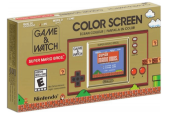 NINTENDO GAME & WATCH CONSOLE SUPER MARIO BROS LIMITED EDITION BEIGE/ROSSO.