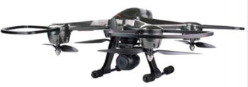 DRONE QUADRICOTTERO RADIOCOMANDATO A DISTANZA CON CAMERA HD TEKK TYPHOON NERO ITALIA.