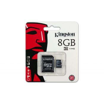 MEMORY CARD MICRO SD/TRANSFLASH 08GB KINGSTON CLASSE 4 SDC4/8GB
