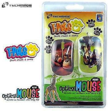 MOUSE OTTICO USB MINI TECHMADE TM-XJ10-JUNGLE3