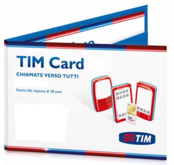 SIM TIM 5 EURO CON 1 DI TRAFFICO.
