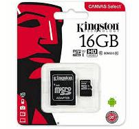 MEMORY CARD MICRO SD/TRANSFLASH 16GB KINGSTON CLASSE 10 SDCS2/16GB