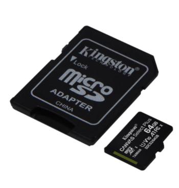 MEMORY CARD MICRO SD/TRANSFLASH 64GB KINGSTON CLASSE 10 SDCS2/64GB