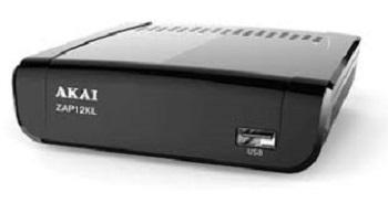 DECODER DIGITALE TERRESTRE DVB-T/T2 + LAN AKAI ZAP12KL BLACK.