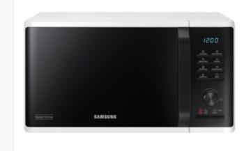 FORNO MICROONDE 23L 800W SAMSUNG MS23K3515AW CON DEFROST BIANCO/NERO.