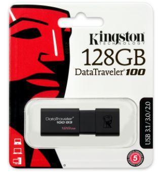MEMORIA USB 128GB 3.0 KINGSTON DT100G3/128GB