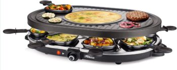 PIASTRA RACLETTE 8 PRINCESS OVALE GRILL PARTY 162700.