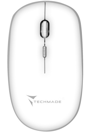 MOUSE WIRELESS TECHMADE TM-MUSWN4B-WH BIANCO.