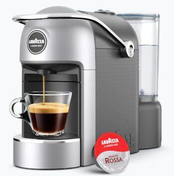 MACCHINA DA CAFFE' JOLIE PLUS LAVAZZA A MODO MIO GUN METAL GREY + 216 CAPSULE LAVAZZA QUALITA' ROSSA