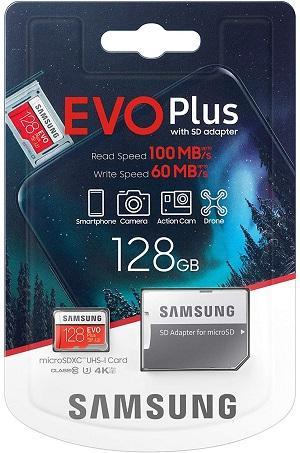 MEMORY CARD MICRO SD/TRANSFLASH 128GB SAMSUNG CLASSE 10 MB-MC128HA
