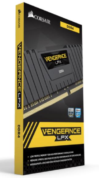 MEMORIA DDR4 3600 16GB KIT 2X8 CORSAIR VENGEANCE LPX CMK16GX4M2D3600C18.