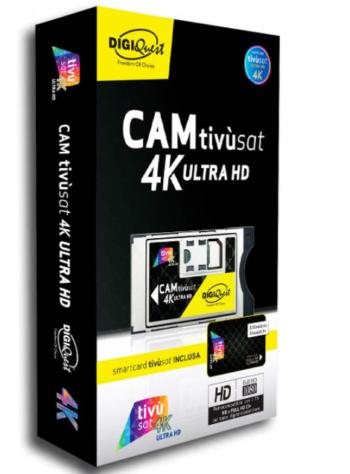 MODULO CAM 4K UHD TIVUSAT + SMARTCARD TIVÙSAT BLACK DIGIQUEST BUNDLETVSAT4K
