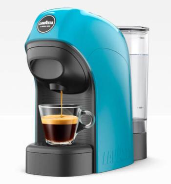 MACCHINA DA CAFFE' A MODO MIO LAVAZZA TINY LM800 CIANO