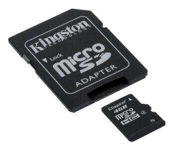 Le schede microSDHC consentono di archiviare più musica