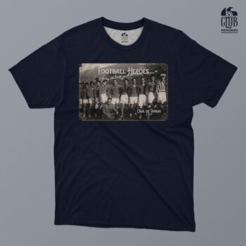"CAVESE: T SHIRT CAVESE 1919 ""FOOTBALL HEROES"" FONDO BLU TAGLIA 2XL"